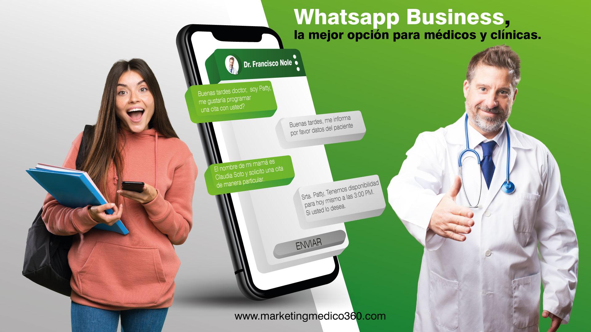Whatsapp Business, la mejor opción para médicos y clínicas.